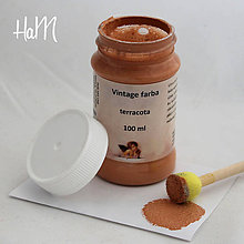 Farby-laky - Vintage farba 100 ml - terracota - 7295943_