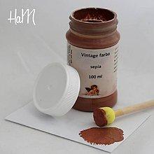 Farby-laky - Vintage farba 100 ml - sepia - 7295957_