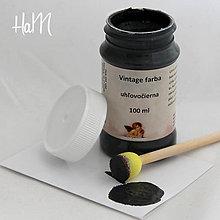 Farby-laky - Vintage farba 100 ml - uhľovočierna - 7295967_
