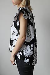 Tričká - Kvetinový top//zľava - 7301970_
