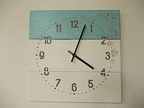 Hodiny - Nástenné hodiny - kvetinky bronz - 7300012_
