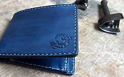 Tašky - Peněženka modrá s ještěrkou - 7301006_