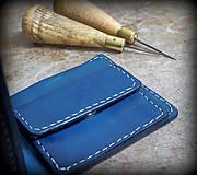 Tašky - Peněženka modrá s ještěrkou - 7301020_