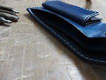 Tašky - Peněženka modrá s ještěrkou - 7301028_
