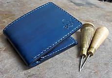 Tašky - Peněženka modrá s ještěrkou - 7301033_