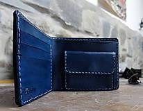Tašky - Peněženka modrá s ještěrkou - 7301035_