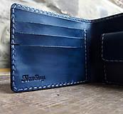 Tašky - Peněženka modrá s ještěrkou - 7301036_