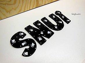 Tabuľky - písmenká...výroba na želanie - 7302246_
