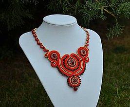 Náhrdelníky - Soutache náhrdelník Bathory - 7302216_