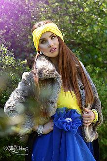 """Ozdoby do vlasov - čelenka """"Butterfly"""" - Yellow - 7299363_"""