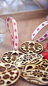 Sada drevených vianočných ozdôb 6 ks