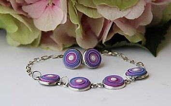Sady šperkov - Dúholínky vo farbách levandule - 7300926_