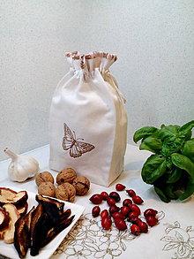 Úžitkový textil - Ľanové vrecúško z tradičného ručne tkaného plátna - 7301466_