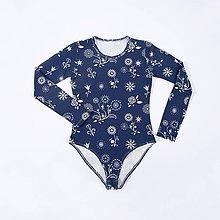 Tričká - BIO dámske body - Sewing flowers - 7298078_