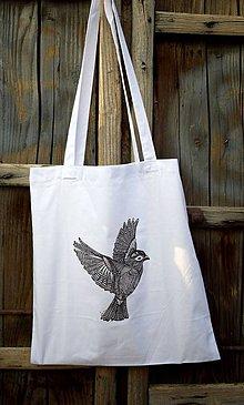 Nákupné tašky - Taška Vták - 7302438_