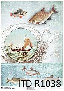 Papier - ryžový papier morský motív - 7298547_