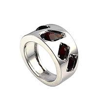 Prstene - Prsteň s českým granátom - 7299298_
