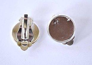 Komponenty - Klipsy, farba strieborná, 12 mm /Kst12/ - 7300583_