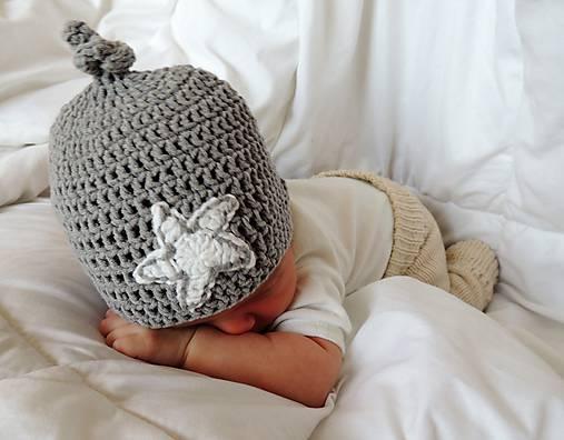Detské čiapky - Little star - 7301925_