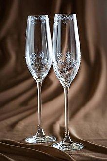 Nádoby - Svadobné poháre - 7303204_