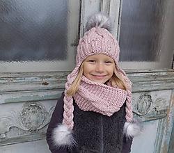 Detské čiapky - vrkočiková čiapka - 7305105_