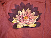Tričká - Lotosový kvet - tričko nie len na meditáciu - 7304308_