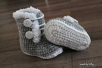 """Topánočky - """"Sivá myška"""" - 7307478_"""