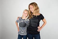 Tričká - Dámske tričko štvorec - tričko popisovateľné kriedou - alebo tabuľa na tričku - 7305147_