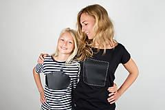 Tričká - Dámske tričko štvorec - tričko popisovateľné kriedou - alebo tabuľa na tričku - 7305267_