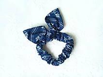Mini scrunchie (dark blue folklore)