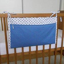 Textil - Vrecko*Modro-biele*45x30 - 7302998_