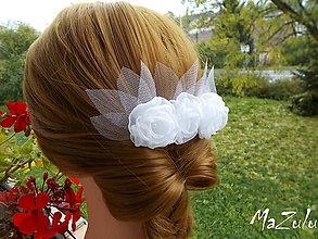 Ozdoby do vlasov - svadobný hrebienok - 7303405_