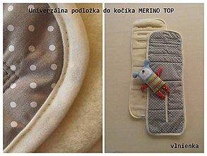 Textil - Podložka do kočíka 100% MERINO TOP univerzálna VLNIENKA - 7307477_