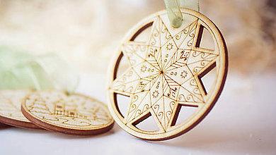 Dekorácie - Vianočná drevené ozdoba - 7303552_