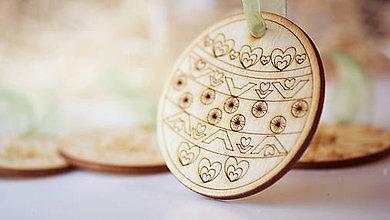 Dekorácie - Vianočná drevené ozdoba - 7303606_
