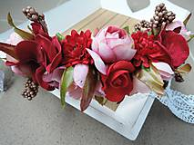 - Čelenka červeno-ružová - 7304425_