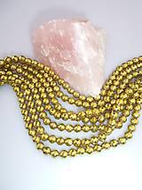 hematit fazetovaný korálky 6mm - zlatý