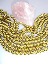 hematit korálky - fazetovaný zlatý hematit 10mm