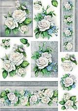 - Ryžový papier - Biele ruže 35x49 - 7303069_