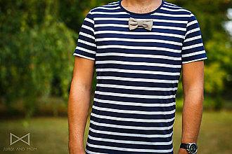 Oblečenie - Pánske tričko BLUE STRIPES - LOWBEL DARK - 7303126_