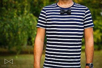 Oblečenie - Pánske tričko BLUE STRIPES - TOD BLACK - 7305694_