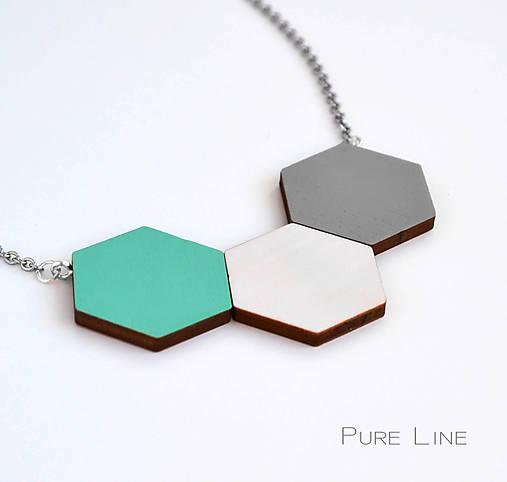 Náhrdelníky - Geometrický náhrdelník - PureMint - 7303229_