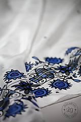 Šatky - hodvábna šatka ZÁRIEČIE modré - 7306121_