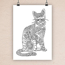 Kresby - Mačka 2. - 7305985_