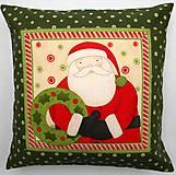 Úžitkový textil - Povlak na vankúš - Santa s venčekom - ZĽAVA z 18,50 - 7305974_