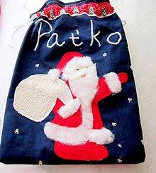 Úžitkový textil - Vrecúška na sladkosti - Mikuláš - 7305890_