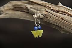 Náušnice - Náušnice z minerálu jadeit a lapis lazuli - 7302830_
