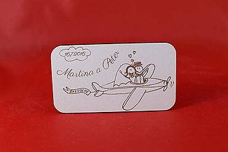 Darčeky pre svadobčanov - Drevená svadobná magnetka ako darček pre hosti 48 - 7305775_