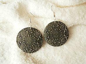 Náušnice - Náušnice z polyméru, hustý ornament - 7304915_