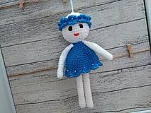Hračky - anjelik - dekorácia 14 / modro-biely/ - 7307255_